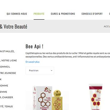 capture d'écran du site viveoeurope, pour illustrer mon action concernant l'ergonomie des pages
