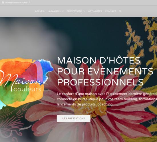 Photo de la page d'accueil du site la maison couleurs
